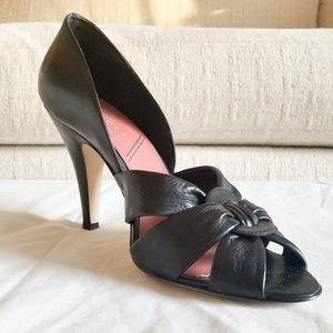 Tahari Black Peep Toe Heels
